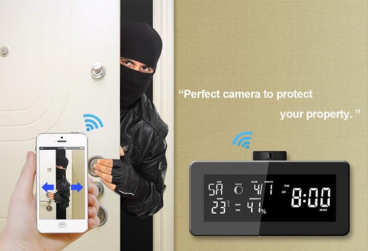 HD 1080P Weather Radio Security Wi-Fi Camera - 4