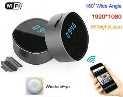 Kamera WIFI Clock, HD1080P, H.264, Mbështetje SD Card 64GB, Nightvision - 1