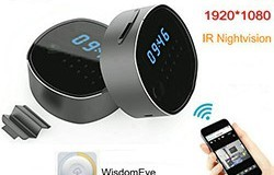 WIFI Clock Camera, HD1080P, H.264, Support SD Card 64GB, Nightvision - 1 250px