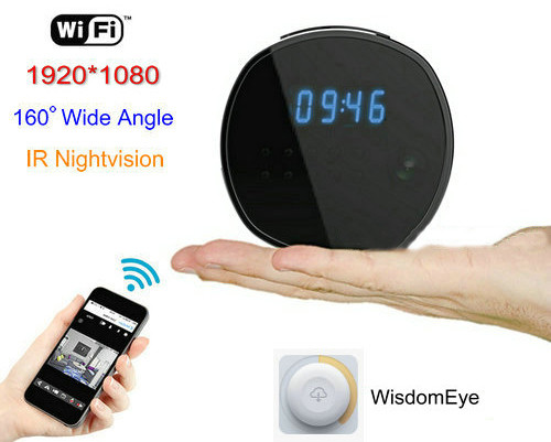 WIFI Clock Camera, HD1080P, H.264, Support SD Card 64GB, Nightvision - 2