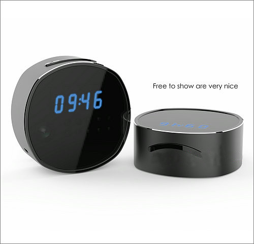 WIFI Clock Camera, HD1080P, H.264, Support SD Card 64GB, Nightvision - 6