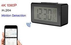 Herätyskellokamera (wifi), yönäkö, liiketunnistus - 1 250px