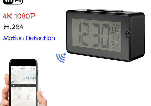 Alarm Clock Camera (Wifi) , Night vision, Motion Detection - 1
