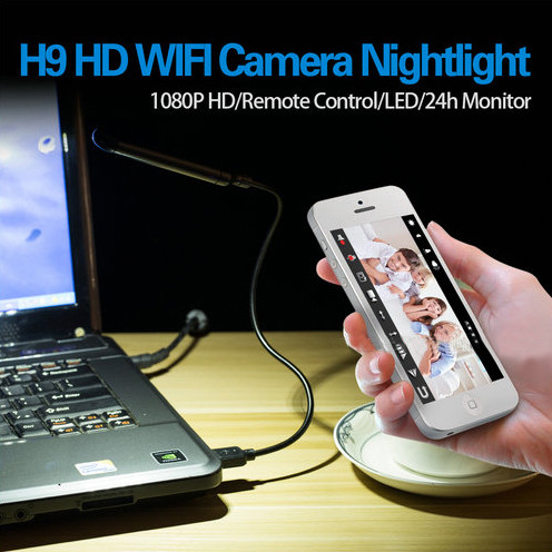 WIFI USB Lamp Camera DVR, 5.0M Camera1080p - 6
