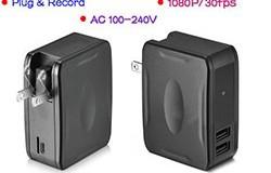 Wall Charger Camera DVR, 1080P, Plug & Record, Awtomatikong IR Night Vision - 1 250px