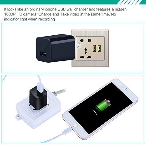 1080P HD USB Wall AC Plug Charger - 4