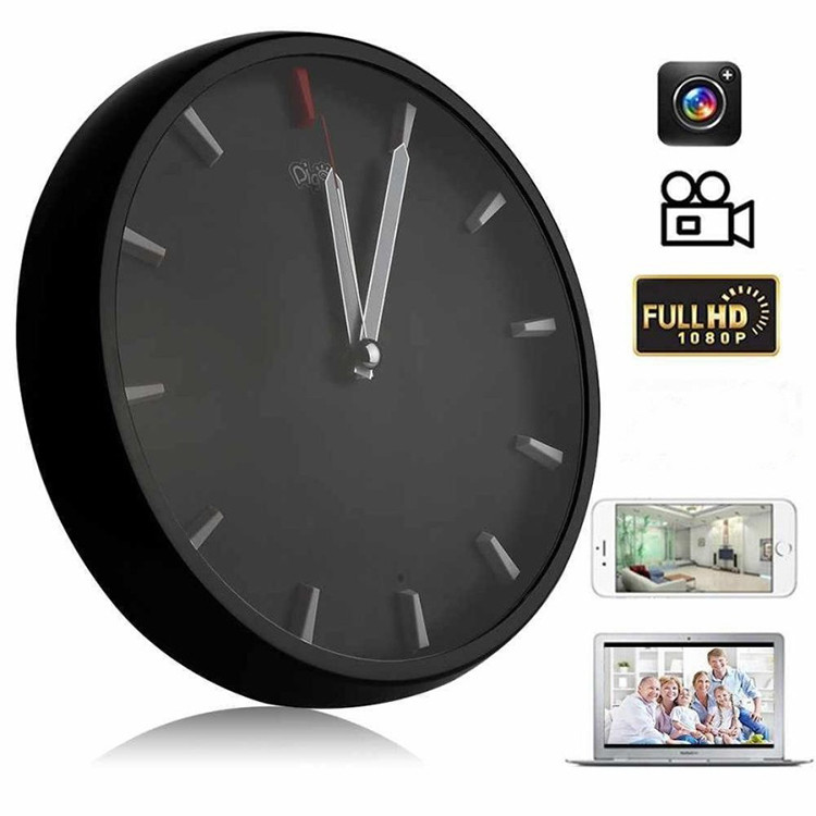 1080P WIFI P2P Spy Hidden Camera Wall Clock Video Recorder Motion Detection - 2