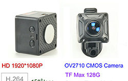 150 Degree Mini Camera, HD1080P, 30fps, SD Max 128g, Batiri 60min - 1 250px