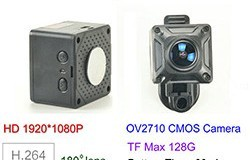180 Degree Mini Camera, HD1080P, 30fps, SD Max 128g, Battery 60min - 1 250px