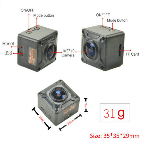 180 Degree Mini Camera, HD1080P, 30fps, SD Max 128g, Battery 60min - 7