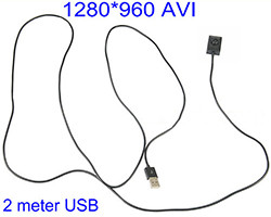 2 meter USB Cable Button camera, 1280*960 (SPY129)