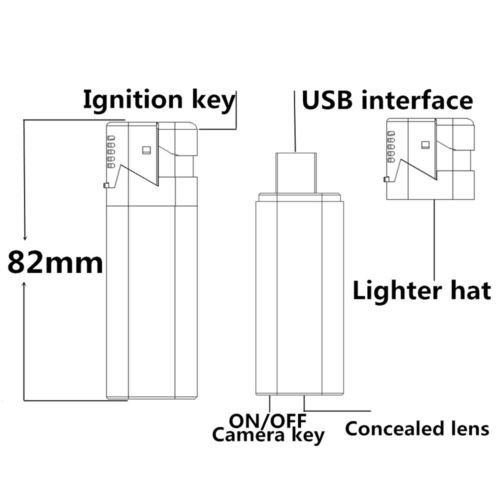 Lighter camera hidden hd spy camera 1080P True lighter camera - 3