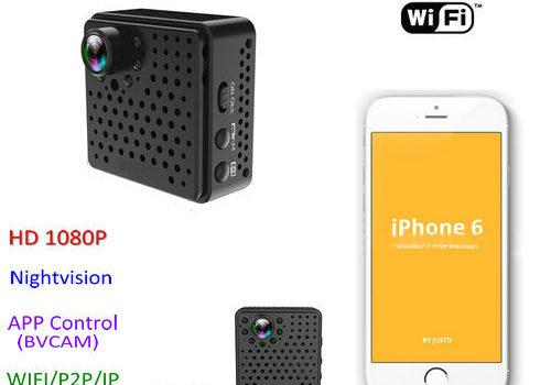 Mini WIFI Camera DVR, 5.0Mega 160degree Camera, Nightvision, SD Max128G - 1