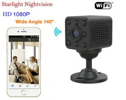 Mini WIFI Kamera, HD1080P, H.264, 8 metra Nightvision Distance - 1