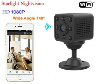 Mini WIFI kamera, HD1080P, H.264, 8 Meters Nightvision Distance - 1