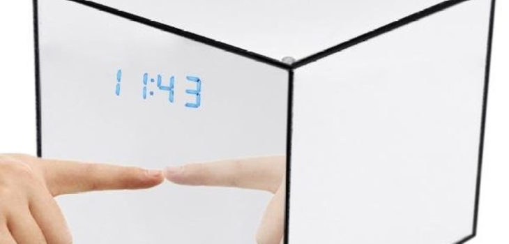 Mirror Box Fashion Safety Hidden Alarm Clock - 1