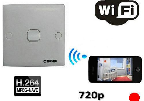 SPY WIFI Switch Camera, 1280x720p - 1