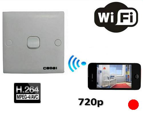 SPY WIFI -kamera, 1280x720p - 1