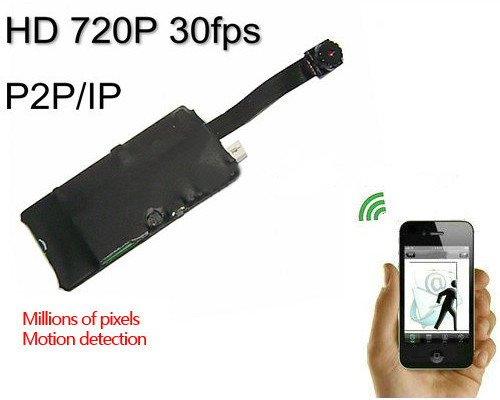 WIFI DIY Camera Module, 1280*720p, H.264, iPhone/Android/PC (SPY130)