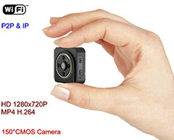 WIFI Mini Camera, Wearable Body Camera, H.264, TF 64G (SPY135)