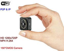 WIFI Mini Camera, Wearable Camera Katawan, H.264, TF 64G (SPY135) - S $ 198