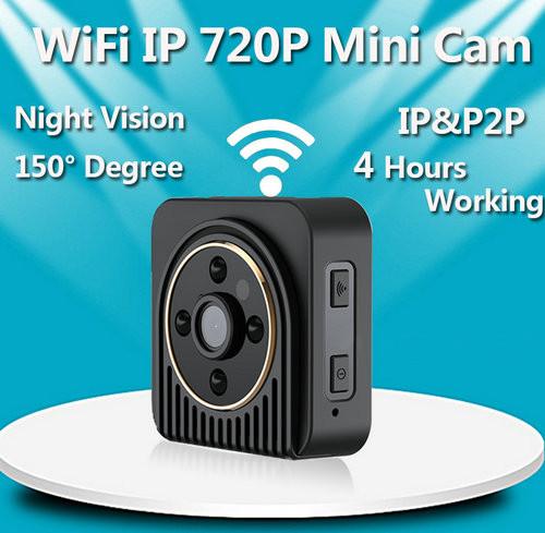 WiFi מצלמה מיני, מצלמת גוף לביש, H.264, TF 64G - 5