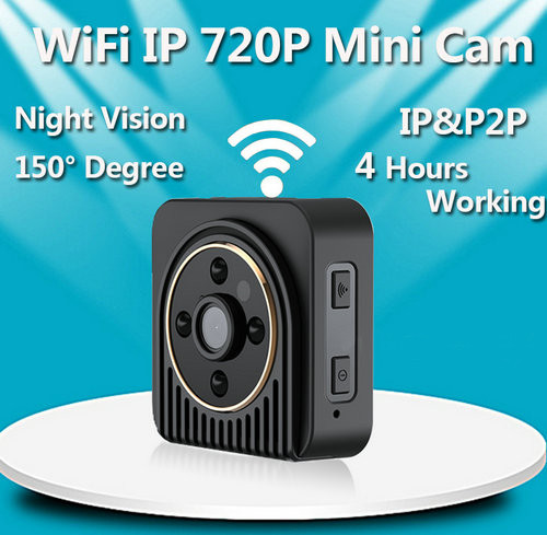 WIFI Mini Camera, Wearable Body Camera, H.264, TF 64G - 5