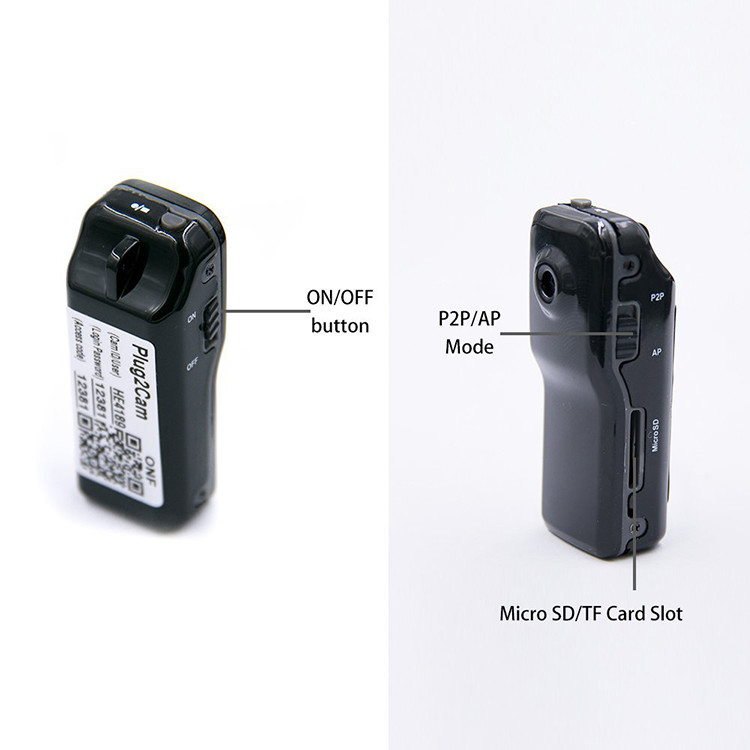 WIFI-langaton turvallisuuskamera Videokamera Mini-videokamera vanhuksille ja lapsille - 3