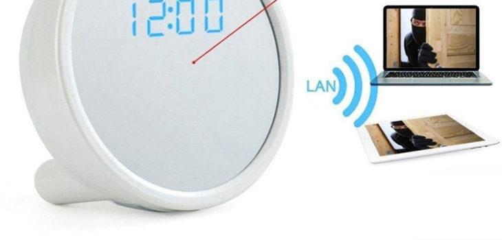 1920x1080P HD WiFi IP Network Hidden Camera Clock - 1