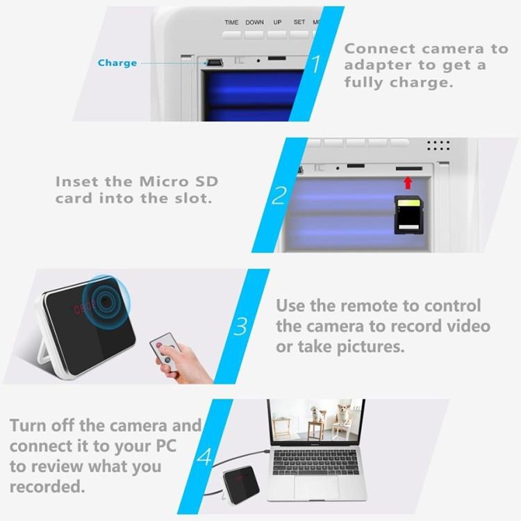 Hidden Camera Alarm Clock - 5