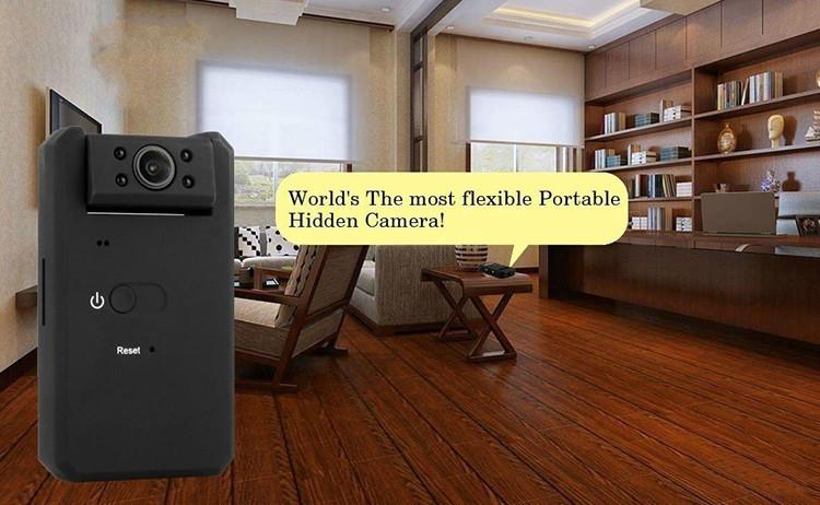 Mini piilotettu spy kamera, HD 1080P kannettava peitelty ja Night Vision - 1