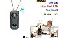 Mini Wearable-kamera, 1080P, 2.0MP-kamera, 140-tutkinto - 1 250px