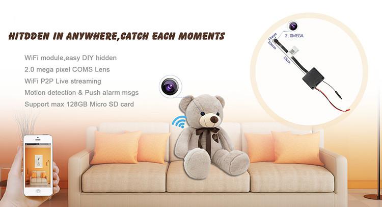 HD 1080P 2.0 Mega WiFi Pinhole Kamera - 1