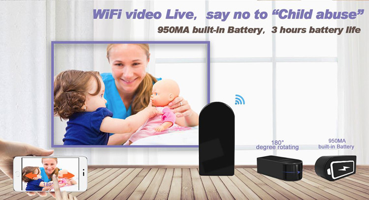 I-HD 1080P I-Mini Black Box I-WiFi Ikhamera - 3