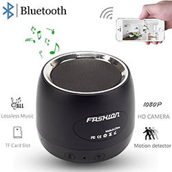 HD 1080P Wifi Hidden Camera Bluetooth Speaker (SPY164) - S $ 248