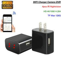 4K WiFi Charger Camera, HD 4K / H.264 (SPY174) - S $ 198