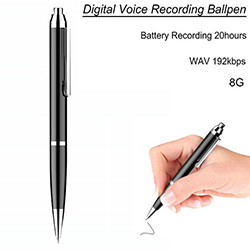 Pen Voice Recorder, Recording Time 20hours, 8G (SPY180)
