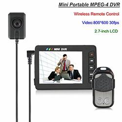 Mini Portable Camera Button DVR, Wireless Remote Control (SPY178) - S $ 298