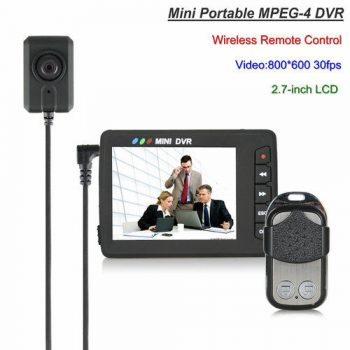 Mini Portable Camera Button DVR, Wireless Remote Control - 1