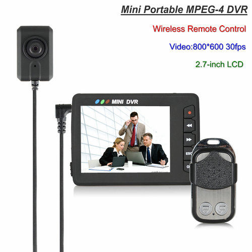 Mini Portable Button Camera DVR, Wireless Remote Control - 1