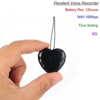 لٹکن وائس ریکارڈر، ویو 192Kbps، 8G میں تعمیر، 12 گھنٹے ریکارڈنگ - 1