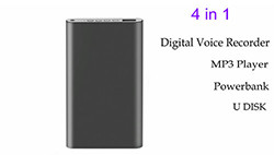Power Bank Digital Voice Recorder, 6500mAh, 16G - 1 250px