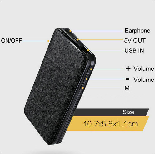 I-Powerbank Voice Recorder, i-Battery Recording Time I-600hours, i-32G-6