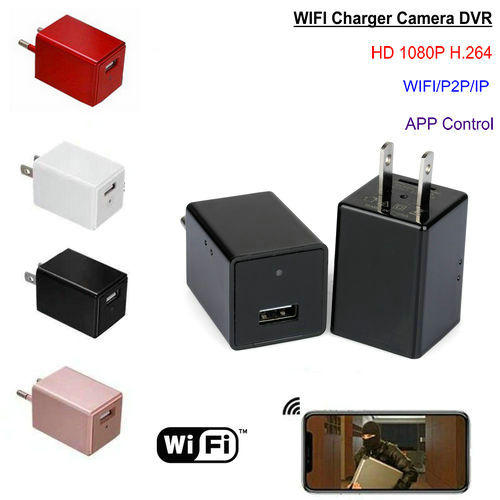 WIFI Charger Camera DVR, HISILICON, 5.0M Ceamara, 1080P, TF Card - 1