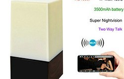 WIFI Color Light Camera DVR, HD1080P, H.264, 3500mAh battery, Two way Talk - 250px