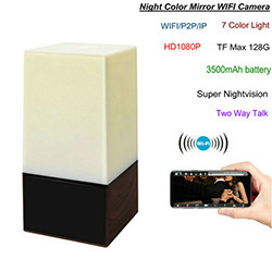 WIFI Color Light Camera DVR, HD1080P/H.264, 3500mAh battery, Two way Talk (SPY172)
