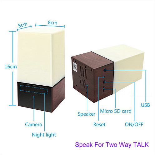 WIFI Color Light Camera DVR, HD1080P, H.264, 3500mAh battery, Two way Talk - 6