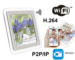 1080P H.264 WIFI Mirror Clock Camera, APP Control, TF Card, Motion Detection (SPY201)