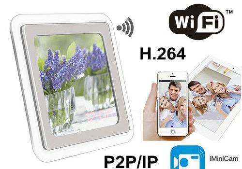 1080P H.264 WIFI Mirror Clock Camera, APP Control, TF Card, Motion Detection - 1