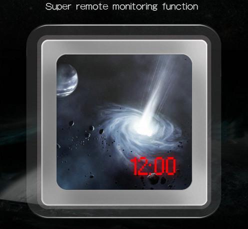 1080P H.264 WIFI Mirror Clock Camera, APP Control, TF Card, Motion Detection - 8